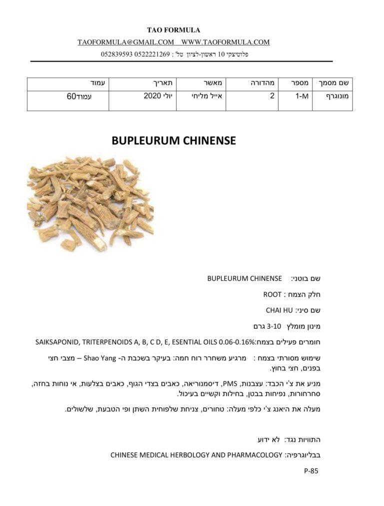 BUPLEURUM CHINENSE 1