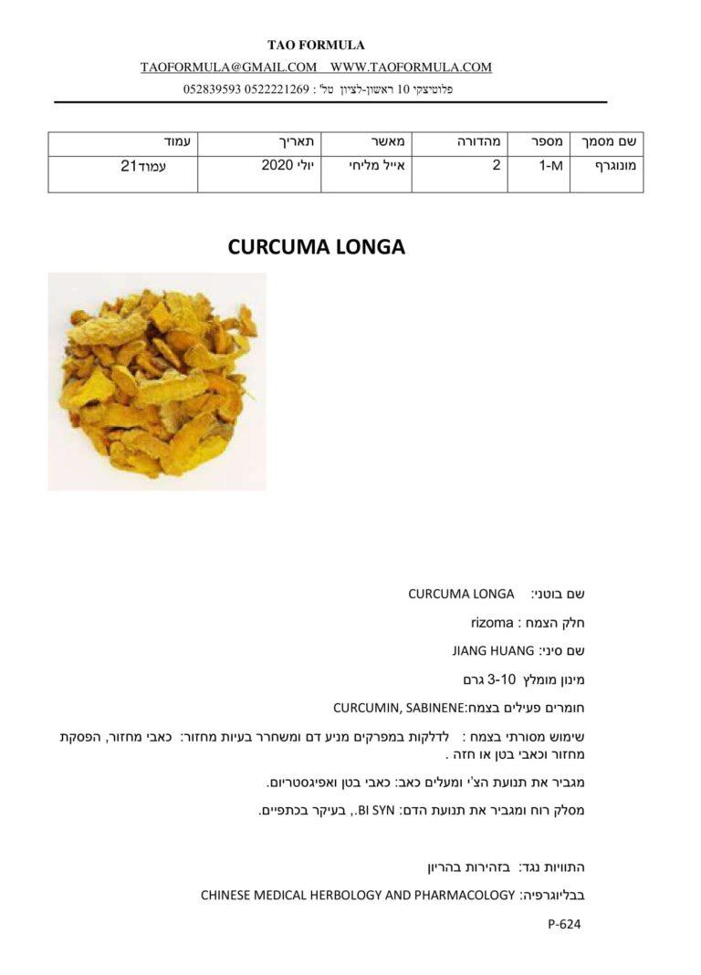 CURCUMA LONGA 1