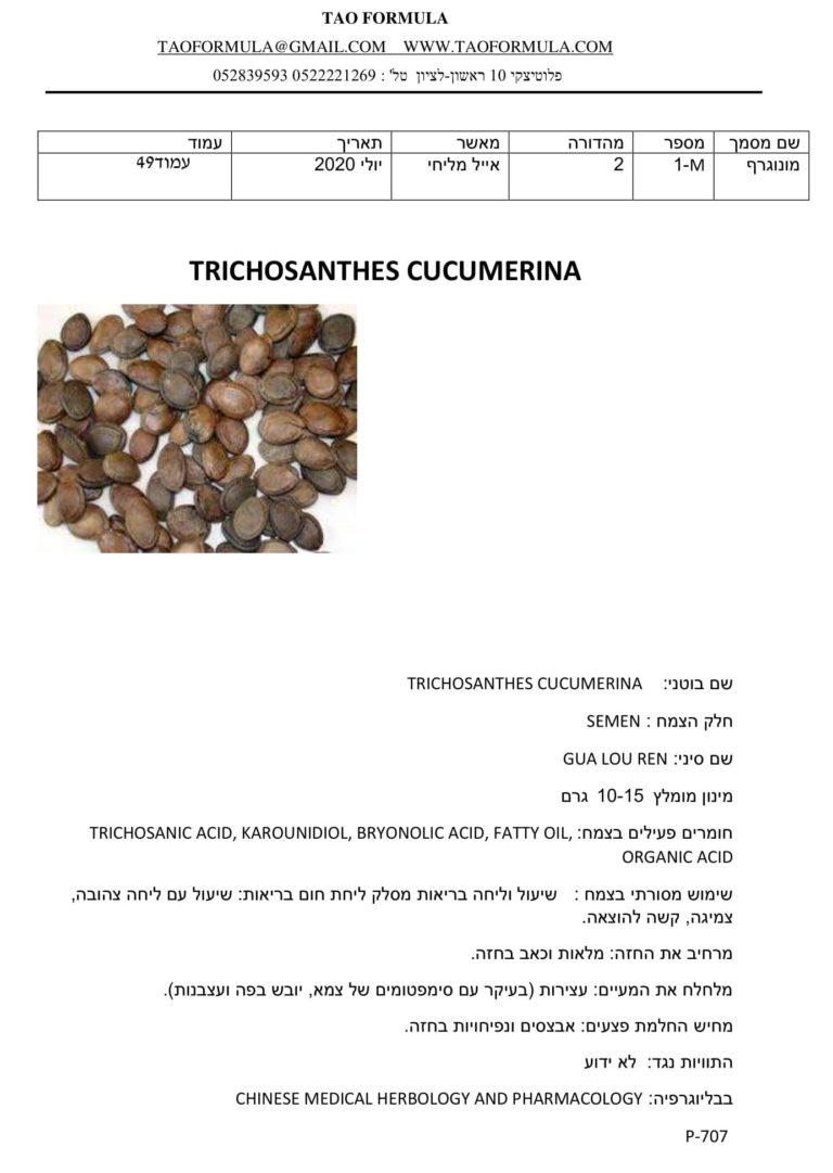 TRICHOSANTHES CUCUMERINA 1